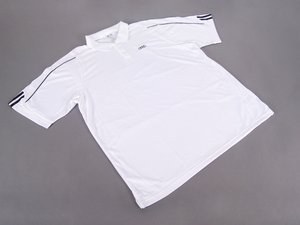 ES#2969983 - ACMAWM676WHTMD - Men'S ClimaLite Three-Stripe Cuff Golf Polo By Adidas - White - Medium - Look great when you Tee off. - Genuine Volkswagen Audi - Audi