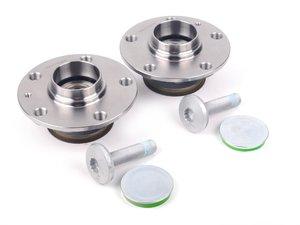 ES#2582009 - 1K0598611KT1 - Rear Wheel Bearing Kit - Both Rear wheel bearings with mounting hardware - Vaico - Audi Volkswagen