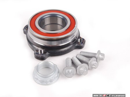 ES#2592646 - 33411095652KT1 - Rear Wheel Bearing Kit - Priced Each - Contains wheel bearing, axle nut, and bolts. - Assembled By ECS - BMW