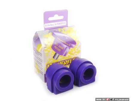 ES#2651766 - PFF5-102-24x2 - Performance Polyurethane Front Sway Bar Bushing Set - Stiffer bushings allow sway bars to work at their fullest potential. For 24mm front sway bar. - Powerflex - MINI
