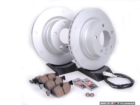 ES#2649789 - 34216855005KT - Rear Brake Service Kit - Featuring Zimmermann rotors and Akebono euro ceramic pads - Assembled By ECS - BMW