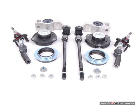 ES#2601875 - 1K0498331BKT2 - Front Suspension Refresh Kit - Stage 2 - Includes tie rods, strut mounts, ball joints and Control Arm Mounts and front control arm bushings - Assembled By ECS - Volkswagen