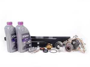 ES#2137116 - 078198674-1 - ECS Tuning Timing Belt Kit - Ultimate Plus - The most comprehensive timing belt kit on the market with free shipping! Includes cam locking tool. - Assembled By ECS - Audi