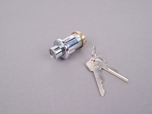 ES#92004 - 51245476145 - Trunk Lock With Keys - Includes lock assembly with two pre-cut keys - Genuine BMW - BMW