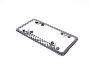 ES#130973 - 51800406644 - MINI Checkered License Plate Frame - Black - Priced Each - To add the checkered look - Genuine MINI - MINI
