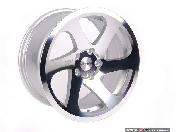"""ES#2635630 - 3S6880CKT - 18"""" 0.06 - Set Of Four - 18""""x8.5"""" ET35 5x100 - Silver/Cut - 3SDM - Audi Volkswagen"""