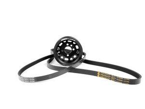 ES#2643223 - 003135ECS02AKT - Underdrive Lightweight Crank Pulley Kit - Includes correct length belts - Assembled By ECS - Audi Volkswagen