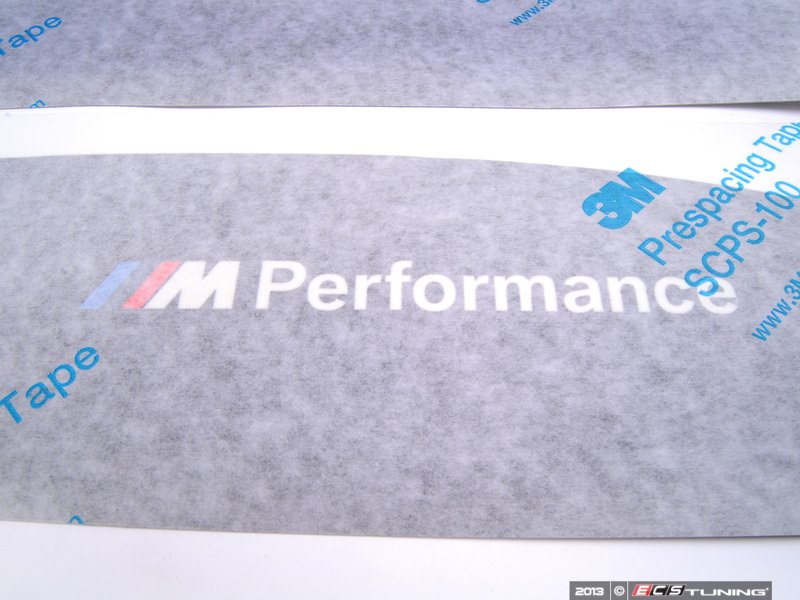 Genuine BMW M Performance Rocker Panel Film Strips - Bmw rocker panel decals