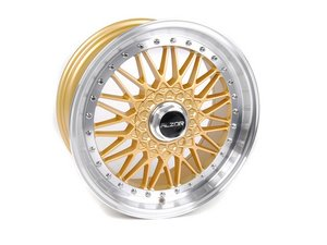 "ES#2695693 - 010-21MK5 - 18"" Style 010 Wheels - Set Of Four - 18""x9"" ET30 5x112 - Gold with 1.5"" Machined Lip - Alzor - Audi BMW Volkswagen"