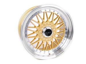 "ES#2695690 - 010-21MK4 - 18"" Style 010 Wheels - Set Of Four - 18""x9"" ET30 5x100 - Gold with 2.5"" machined lip - Alzor - Volkswagen"