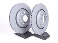 ES#2162539 - 1K0615601NKT1 - Rear Brake Rotors - Pair (310x22) - Restore the stopping power in your vehicle - Zimmermann - Audi Volkswagen