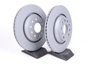 ES#2162539 - 1K0615601NKT1 - Rear Brake Rotors - Pair (310x22) - Restore the stopping power in your vehicle - Zimmermann - Audi Volkswagen