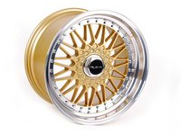 """ES#2695972 - 010-22KT - 18"""" Style 010 Wheels - Set Of Four - Gold With Machined Lip - (NO LONGER AVAILABLE) - 18""""x10"""" 5x112 CB66.6 ET30 with 3"""" lips - Alzor -"""