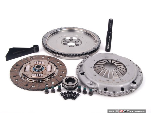 ES#125 - ESR198031S1 -  Stage 1 Clutch Kit - Lightweight 228mm Single Mass Flywheel (14 lbs.) - Great for daily driven, and mildly tuned cars holding up to 250 ft-lbs - ECS - Audi Volkswagen