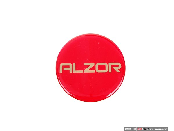 ES#2678255 - AZ698MMR - Center Cap Sticker - Red - Priced Each - Add a custom touch to your Alzor 010 or 881 wheels - Alzor - Audi BMW Volkswagen