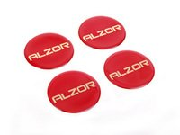 ES#2678472 - AZ698MMRKT - Center Cap Sticker Kit - Red - Set Of Four - Add a custom touch to your Alzor 010 & 881 wheels - Alzor - Audi BMW Volkswagen MINI