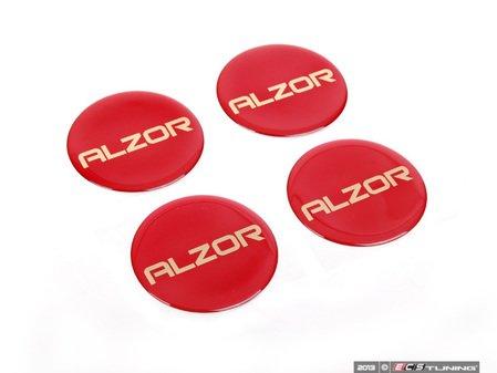 ES#2678472 - AZ698MMRKT - Center Cap Sticker Kit - Red - Set Of Four - Add a custom touch to your Alzor 010 & 881 wheels - Alzor - Audi BMW Volkswagen MINI