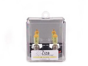 ES#2526576 - ZZH8BSPYa -  H8 Pure Yellow Bulb - Pair - Similar to 3000k HID color, increase intensity & visual appeal with a yellow hue - ZiZa - Audi BMW Volkswagen MINI Porsche