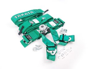 ES#2678435 - 72004US-H2 - Takata Race 6 SFI - 6pt Snap-On  - (NO LONGER AVAILABLE) - Green - Takata - Audi BMW Volkswagen Mercedes Benz MINI Porsche