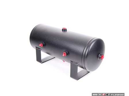 "ES#1895403 - 10980 -  2 Gallon Air Tank - Universal 6""x17"" tank with four 1/4"" and two 3/8"" ports - Air Lift - Audi BMW Volkswagen"