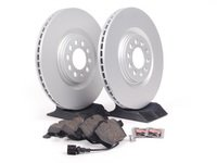ES#257466 - 1J0698052 - Front Brake Service Kit - Featuring Meyle Rotors and Vaico semi metallic pads - Assembled By ECS - Audi