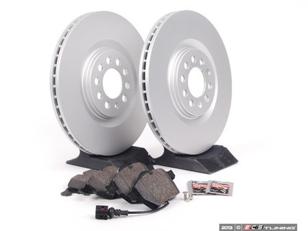 ES#257466 - 1J0698052 - Front Brake Service Kit - Featuring Meyle Rotors and Vaico semi metallic pads - Assembled By ECS - Audi