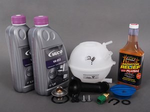 ES#2652248 - 06A121121CKT4 - Cooling System Refresh Kit - Level 2 - Replace your thermostat, temp sensors, and expansion tank after performing a proper coolant system flush! - Assembled By ECS - Audi