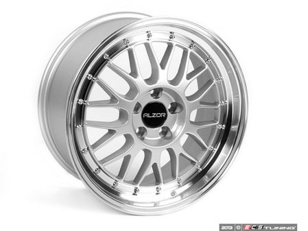 "ES#2598318 - 881AKT - 18"" Style 881 Wheels - Set Of Four - 18""x8.5"" ET45 5x112 - Silver with 2"" Machined Lip - Alzor - Audi Volkswagen"