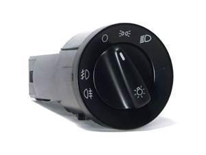 ES#2855880 - 1C0941531AK - Standard European Headlight Switch - Black - Controls headlights, parking lights, front fog lights, and rear fog lights - Bremmen Parts - Volkswagen