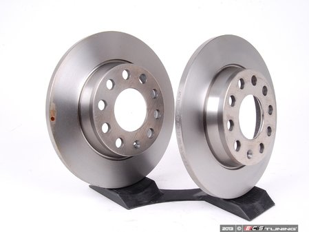 ES#260900 - 8E0615601QKT - Rear Brake Rotors - Pair (255x12) - Restore the stopping power in your vehicle - ATE - Audi
