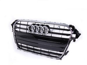 ES#2541013 - 8K0853651GT94 - S-Line Grille Assembly - Glossy Black With Chrome Trim - Clean up or change your look - Genuine Volkswagen Audi - Audi
