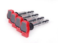ES#2065380 - 06E898001 -  Coil Pack - Set Of Four - Dress up your engine bay with these red colored coil packs - NFIS Original Equipment - Audi Volkswagen