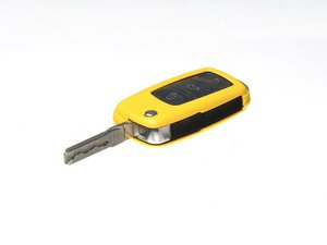 ES#2581185 - 3592RKLN12561 - Remote Key Cover Plastic - Yellow - Snap on covering for your switchblade style key - ECS - Volkswagen