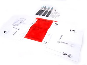 ES#197063 - 82790136426 - Install Kit For Roof Rack - Black Roof - Priced As Kit  - For the factory MINI roof rack - Genuine MINI - MINI