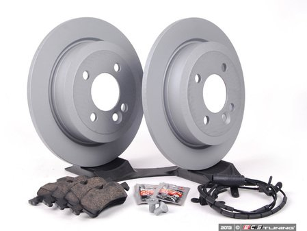 ES#2597268 - 34111502891KT16 - Rear Brake Service Kit - Featuring Zimmerman rotors and Pagid pads - Assembled By ECS - MINI
