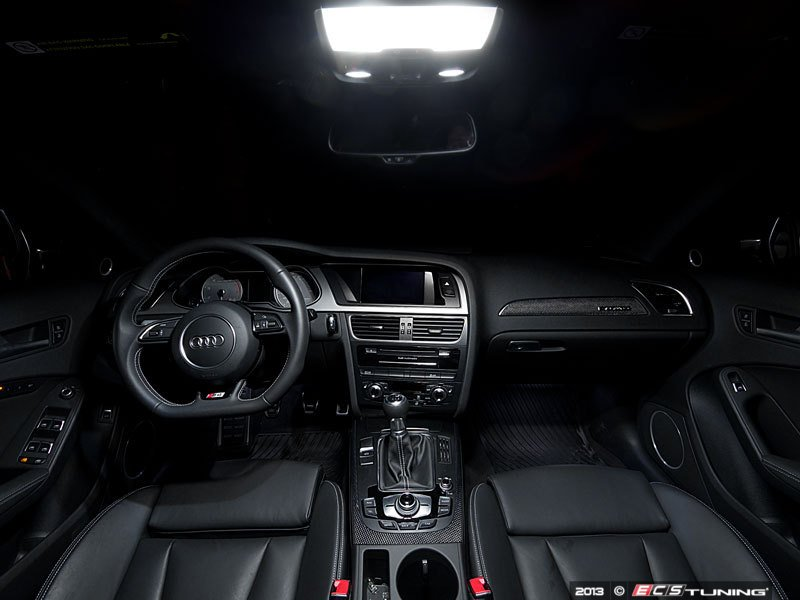 ecs news audi b8 a4 s4 ziza led interior lighting kit. Black Bedroom Furniture Sets. Home Design Ideas
