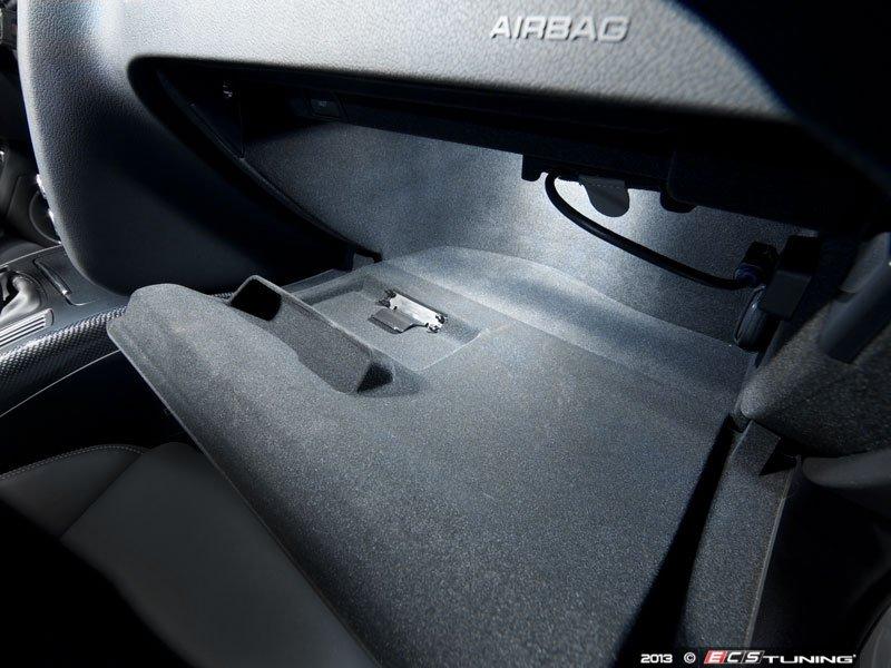 Audi A4 Glove Box Light Fuse : Ecs news audi b a s ziza led interior lighting kit