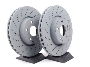 ES#2586606 - 000421111207KT1 - Front Brake Rotors - Pair (322x32) - Includes left and right front brake rotors - Genuine Mercedes Benz - Mercedes Benz