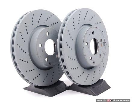 ES#2586606 - 000421111207KT1 - Front Brake Rotors - Pair (322x32) - Includes left and right front brake rotors - Genuine Mercedes Benz - Mercedes Benz