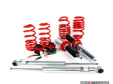 """ES#240272 - 29092-1 - Street Performance Coilover System - Fixed Damping - Unrivaled comfort and performance - Average lowering of 1.0""""-2.2""""F 1.0""""-2.2""""R. - H&R - Audi"""
