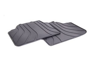 ES#2643515 - 51472336599 - Rear Rubber Floor Mats - Anthracite Black - All weather protection for your BMW - Genuine BMW - BMW