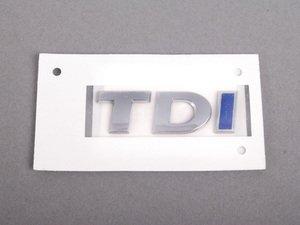 """ES#1884608 - 1K9853675KWWS - """"TDI"""" Emblem - Chrome / Chrome / Blue stick on emblem - Genuine Volkswagen Audi - Volkswagen"""