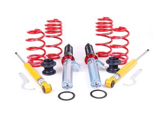 "ES#7427 - 54755-4 - MK5 GTI / Rabbit Street Performance Coilovers - Fixed Dampening - Average lowering 2006-2007 (1.2-2.5""F 1.3-2.4""R) 2008- (0.6-1.9""F 0.7-1.8""R) - H&R - Volkswagen"