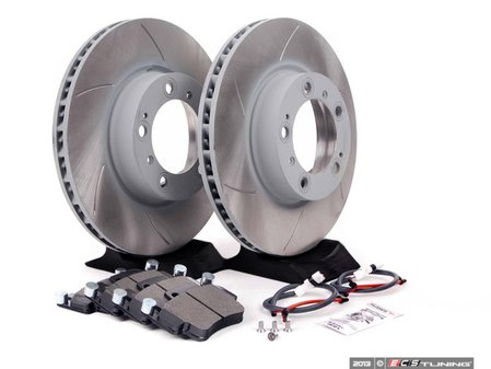 ES#2598663 - 99635140501FPKT3 - Performance Front Brake Service Kit - Featuring Sebro slotted rotors and Hawk HPS brake pads - Assembled By ECS - Porsche