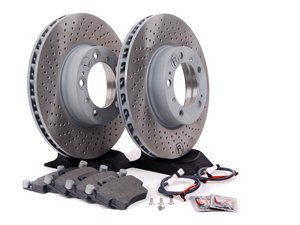 ES#2598661 - 99635140501FOKT3 - Front Brake Service Kit - Featuring Sebro rotors and Mintex brake pads - Assembled By ECS - Porsche