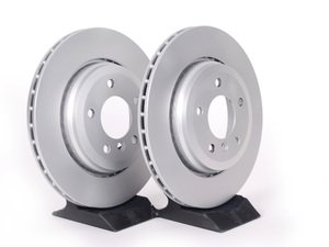 ES#2135687 - 34216855157KT2 - Rear Brake Rotors - Pair (320x22) - Featuring a protective Meyle Platinum coating. - Meyle - BMW