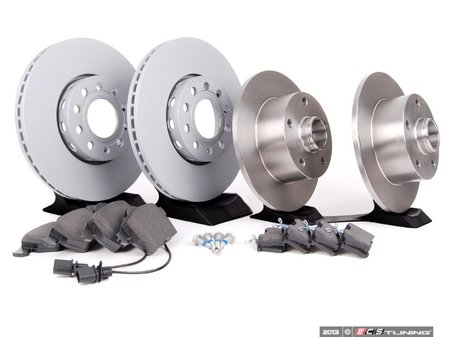 ES#2561717 - 8E0615301QKT2 - Front & Rear Brake Service Kit - Featuring Zimmerman rotors and Mintex Red Box pads - Assembled By ECS - Audi