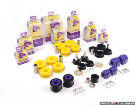 ES#2681752 - PFBK-E46M3C - Powerflex Performance Polyurethane Bushing Kit - Improves handling and control and drive line feel - Powerflex - BMW