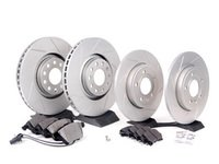 ES#2562108 - 8E0301ADSGMTKT3 - Performance Front & Rear Brake Service Kit - Featuring ECS GEOMET Slotted rotors and Hawk HPS pads - Assembled By ECS - Audi