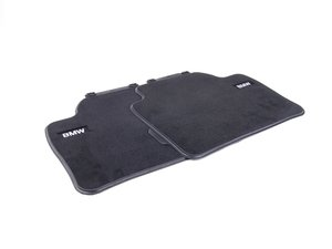ES#2537480 - 51472293353 - Base Line Rear Carpeted Floor Mat Set - Schwarz/Black - Genuine BMW - BMW